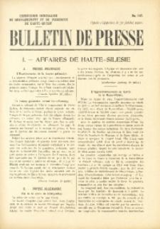 Bulletin de Presse, 1920, No. 147