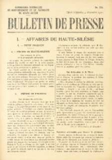 Bulletin de Presse, 1920, No. 253
