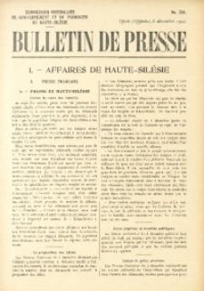Bulletin de Presse, 1920, No. 254