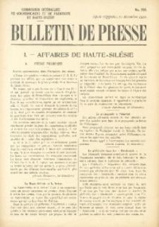 Bulletin de Presse, 1920, No. 258