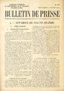 Bulletin de Presse, 1920, No. 259