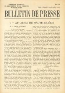 Bulletin de Presse, 1920, No. 274