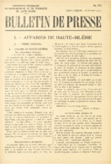 Bulletin de Presse, 1921, No. 313