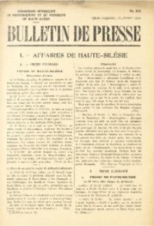 Bulletin de Presse, 1921, No. 316