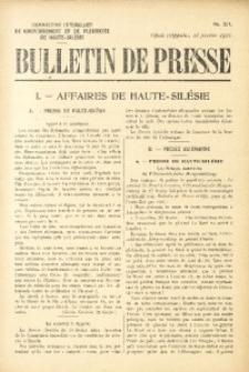 Bulletin de Presse, 1921, No. 321