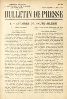 Bulletin de Presse, 1921, No. 343
