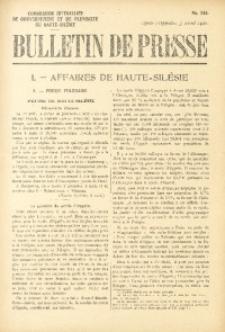 Bulletin de Presse, 1921, No. 348