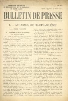 Bulletin de Presse, 1921, No. 367