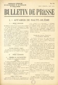 Bulletin de Presse, 1921, No. 376