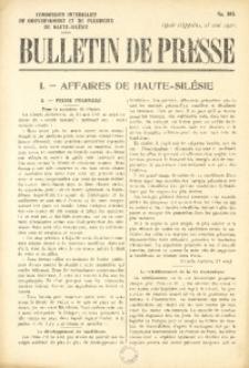 Bulletin de Presse, 1921, No. 393