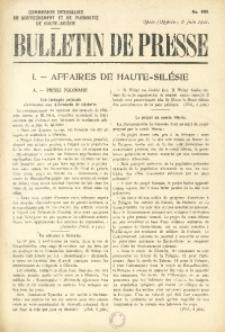 Bulletin de Presse, 1921, No. 400