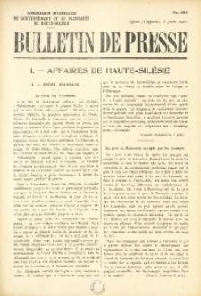 Bulletin de Presse, 1921, No. 402