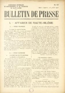 Bulletin de Presse, 1921, No. 442