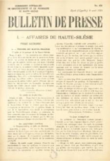 Bulletin de Presse, 1921, No. 450