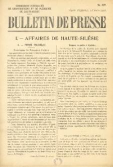 Bulletin de Presse, 1922, No. 637