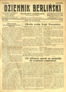 Dziennik Berliński, 1926, R. 30, nr 281