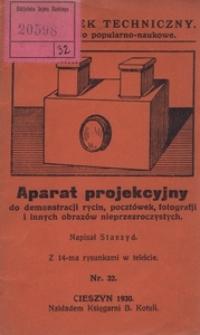 Aparat projekcyjny do demonstracji rycin, pocztówek, fotografji i innych obrazów nieprzezroczystych