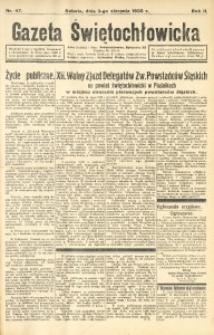 Gazeta Świętochłowicka, 1935, R. 2, nr 47