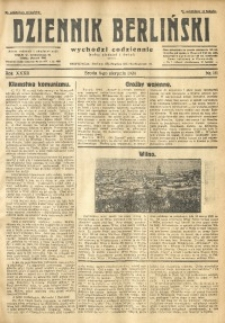 Dziennik Berliński, 1928, R. 32, nr 181
