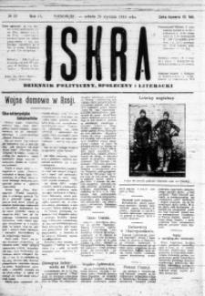 Iskra. Dziennik polityczny, społeczny i literacki, 1918, R. 9, nr 22
