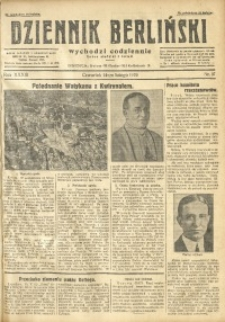 Dziennik Berliński, 1929, R. 33, nr 37