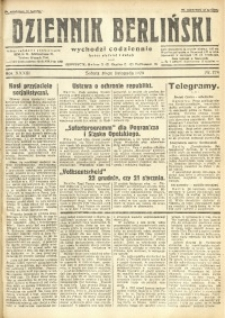 Dziennik Berliński, 1929, R. 33, nr 278