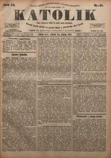 Katolik, 1900, R. 33, nr 21