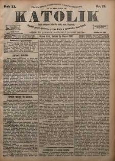 Katolik, 1900, R. 33, nr 27