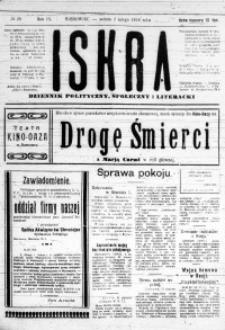 Iskra. Dziennik polityczny, społeczny i literacki, 1918, R. 9, nr 28