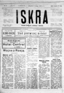 Iskra. Dziennik polityczny, społeczny i literacki, 1918, R. 9, nr 42
