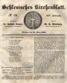 Schlesisches Kirchenblatt, 1848, Jg. 14, No. 13