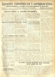Sprawy Robotnicze i Emigracyjne, 1930, nr 34
