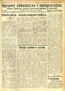Sprawy Robotnicze i Emigracyjne, 1930, nr 45