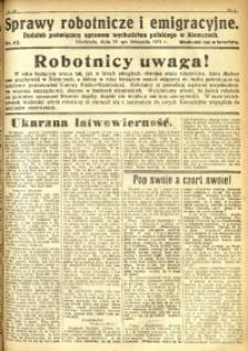 Sprawy Robotnicze i Emigracyjne, 1931, nr 42