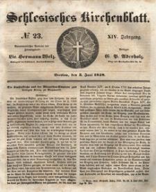 Schlesisches Kirchenblatt, 1848, Jg. 14, nr 23