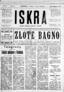 Iskra. Dziennik polityczny, społeczny i literacki, 1918, R. 9, nr 105