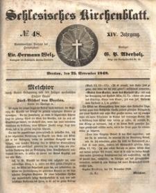 Schlesisches Kirchenblatt, 1848, Jg. 14, nr 48