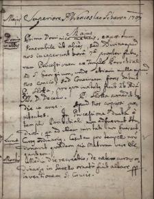 Diarium Residentiae S[ocietatis] I[esu] Teschinensis ab Anno 1707-1721