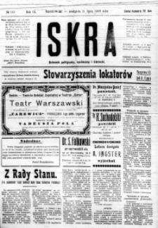Iskra. Dziennik polityczny, społeczny i literacki, 1918, R. 9, nr 163