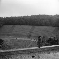 Góra Świętej Anny. Widok na amfiteatr od strony Pomnika Czynu Powstańczego.