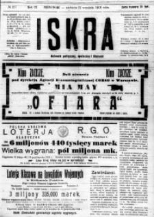 Iskra. Dziennik polityczny, społeczny i literacki, 1918, R. 9, nr 217