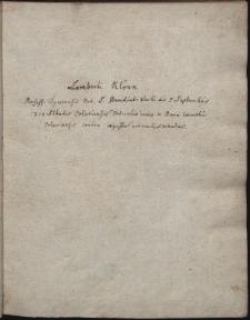Lamberti Klönn professi tynecensis Ord. S. Benedicti electi die 5 septembris 1710 abbatis orloviensis deductio iuris in bona coenobii orloviensis contra iniustos eorundem detentores