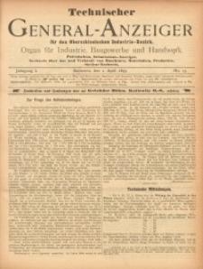 Technischer General-Anzeiger für den Oberschlesischen Industrie-Bezirk, 1895, Jg. 1, No. 13