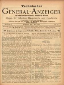 Technischer General-Anzeiger für den Oberschlesischen Industrie-Bezirk, 1896, Jg. 2, No. 15