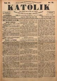 Katolik, 1903, R. 36, nr 72