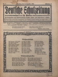 Deutsche Schulzeitung in Polen, 1933/1934, Jg. 14, Nr. 3