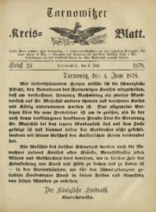 Tarnowitzer Kreis-Blatt, 1878, Stück 23