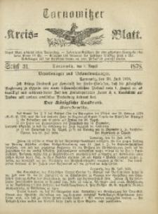 Tarnowitzer Kreis-Blatt, 1878, Stück 31