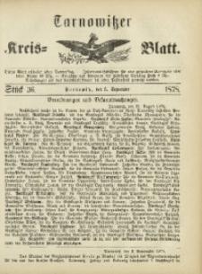 Tarnowitzer Kreis-Blatt, 1878, Stück 36