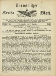 Tarnowitzer Kreis-Blatt, 1878, Stück 38
